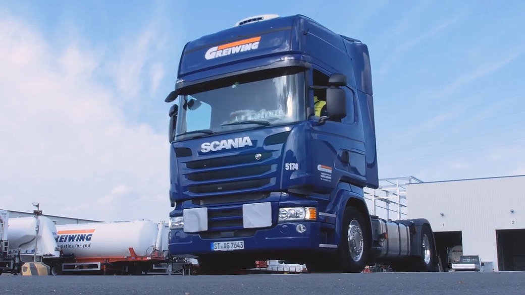 LKW der Greiwing logistics for you GmbH