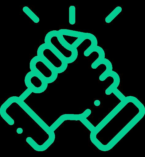 nachhaltige partnerschaft icon