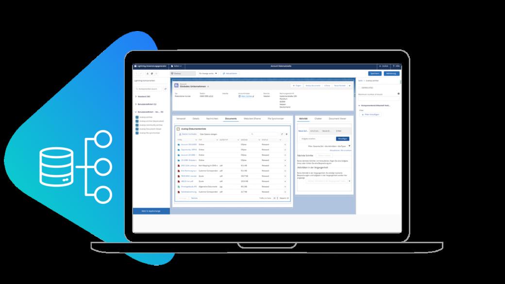 kostengünstiges d.velop Dokumentenarchiv in Salesforce integriert