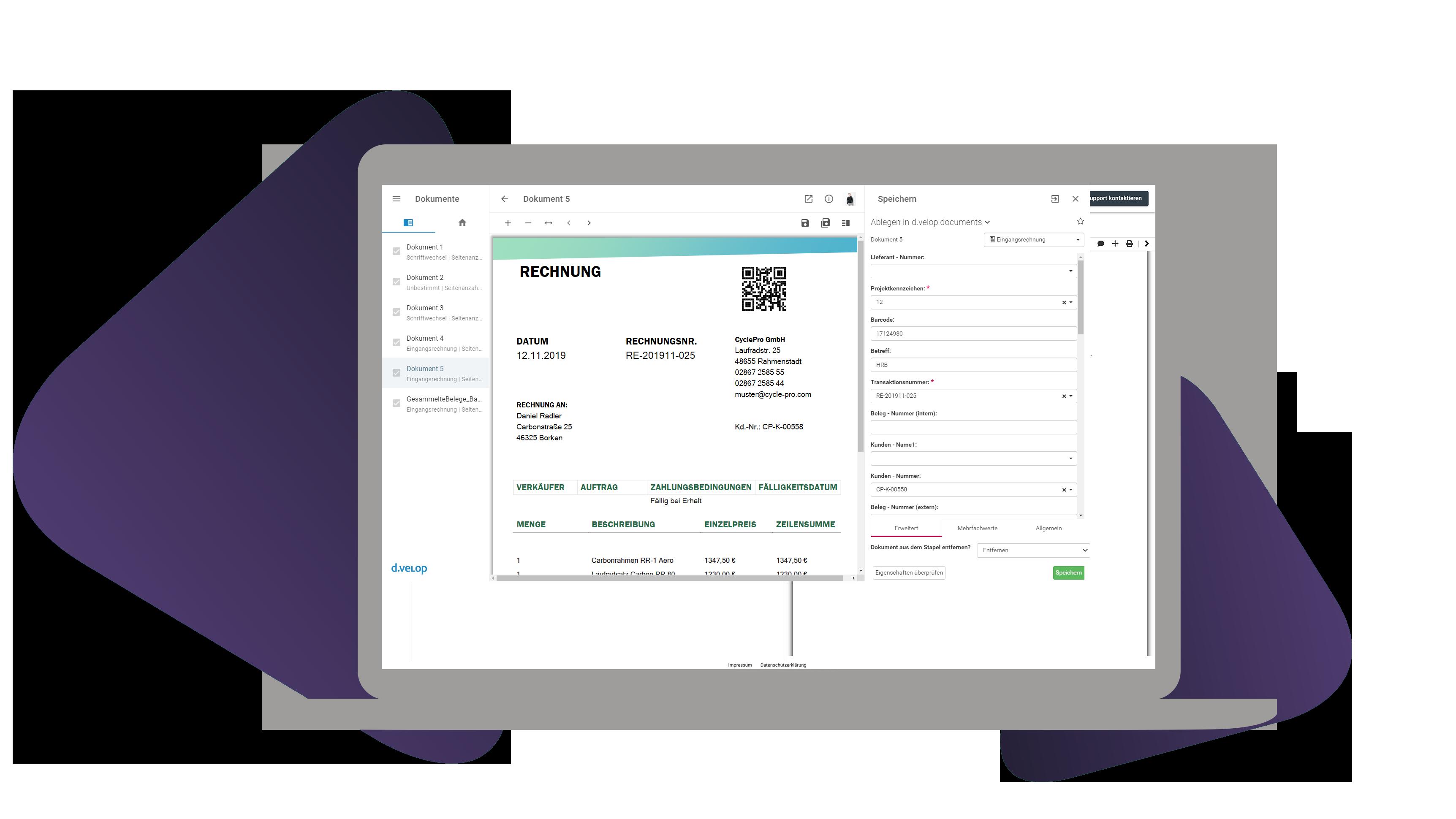Dokumente digitalisieren und auslesen