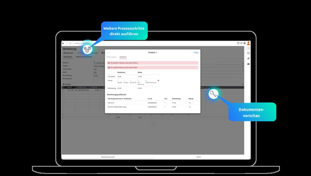 Bestellungsvorgang bei der digitalen Rechnungsverarbeitung mit d.velop smart invoice