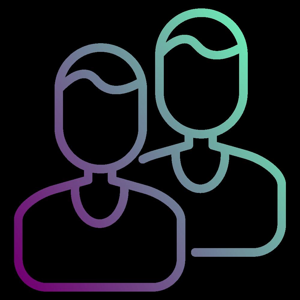 Partner-Icon in der Farbe Lila
