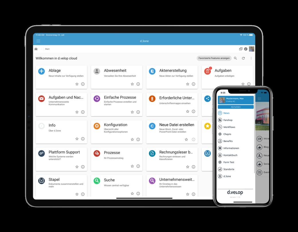 Die Mitarbeiter App auf Smartphone und Tablet