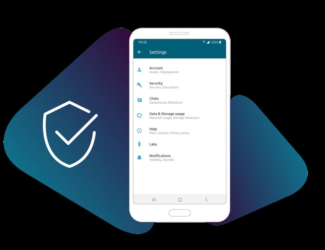 Sicherer Mitarbeiter-Chat via App