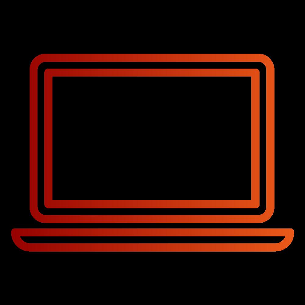 Das rote Icon zeigt den Desktop eines Laptops