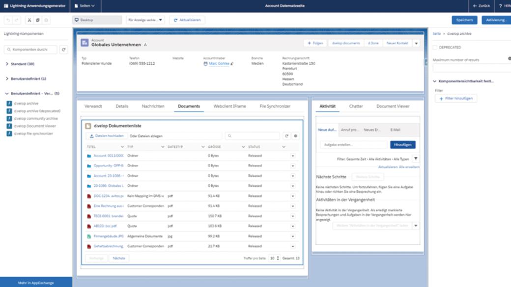 Mit DMS-Schnittstelle Dokumente in Salesforce einfach und kostengünstig managen