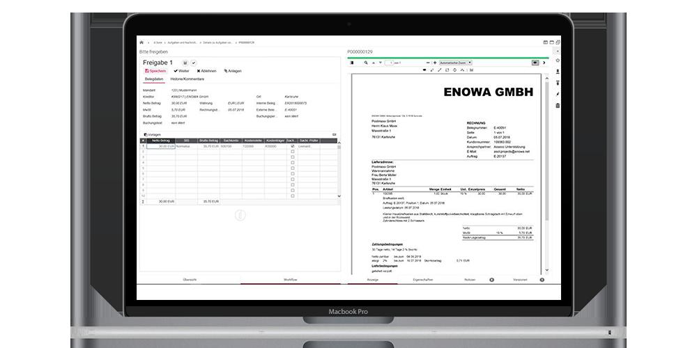 Digitale Rechnungsverabeitung Integration Applus