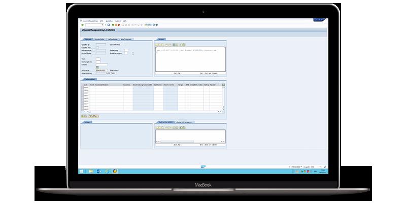 screenshot of the d.velop procurement software