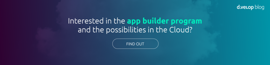 App Builder Program for SaaS solutions d.velop