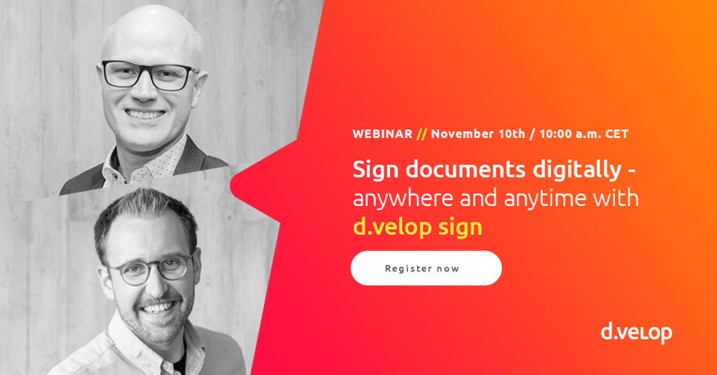 Webinar - sign documents digitally - anywhere and anytime with d.velop sign